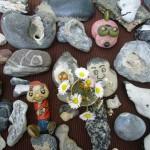 Steinfiguren von Papa Pfau