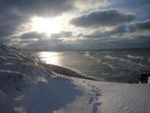 Strand Neuendorf im Winter
